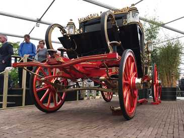 The British Queen's Australian State Coach at the Chelsea Flower Show