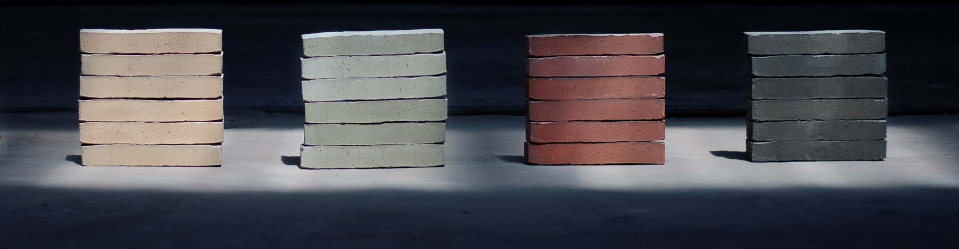Four brand new facing bricks combine pure aesthetics with the ecological Brick7 format